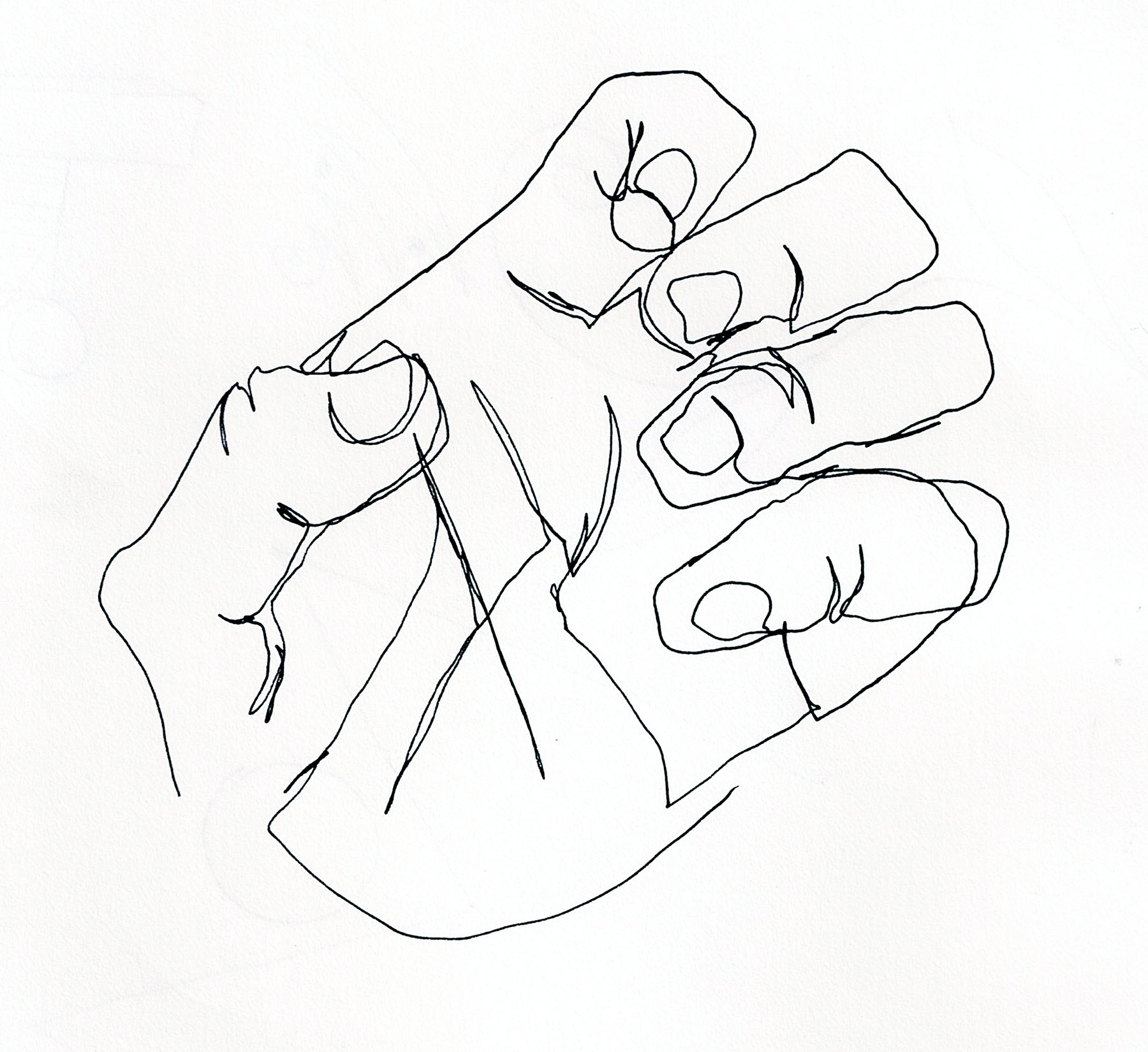 Line Art Hands : Drawing exercises kristopher may